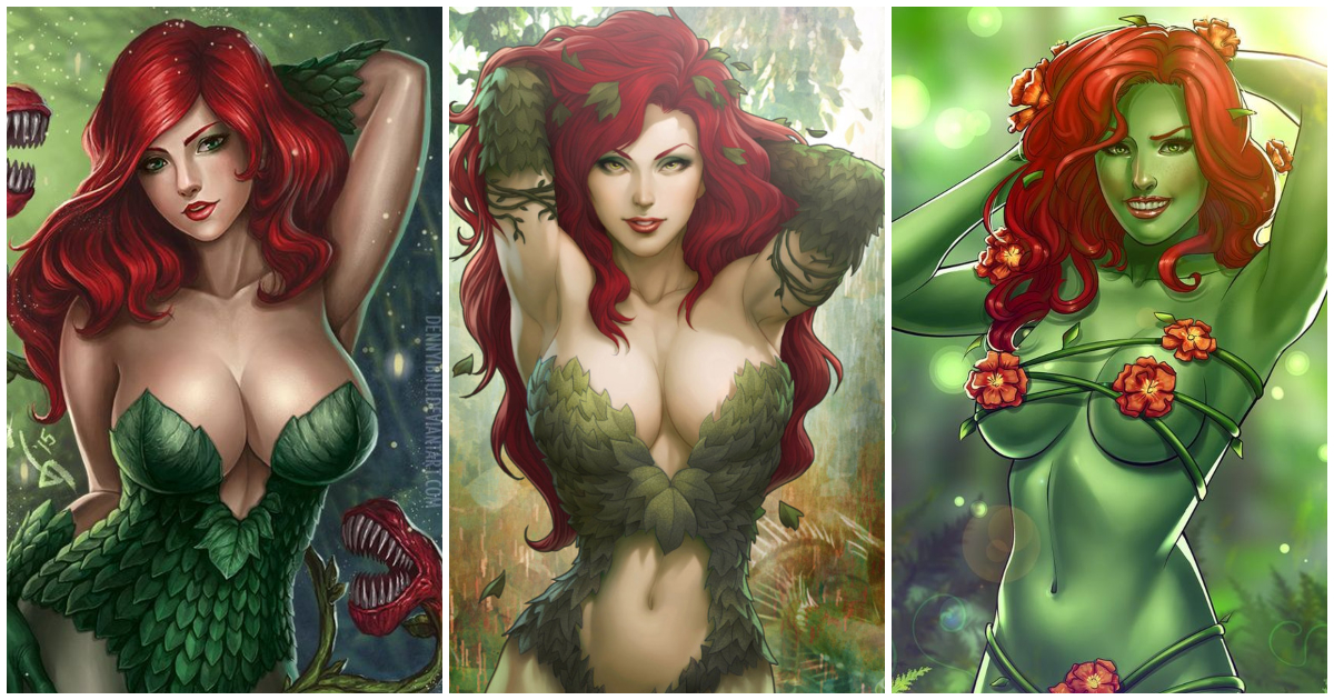 Latex poison ivy cosplay