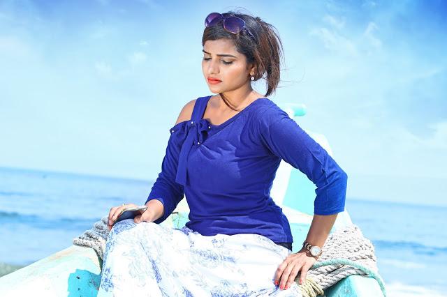 Kollywood Actress Anju Kriti Latest Pics In Saree 2