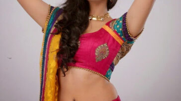 Actress Neelam Upadhyay Latest Beautiful Navel Pics In Red Dress 7