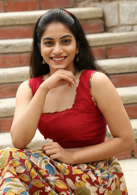 Punarnavi Bhupalam South Indian Cute and Beautiful Actress in Red Dress 2