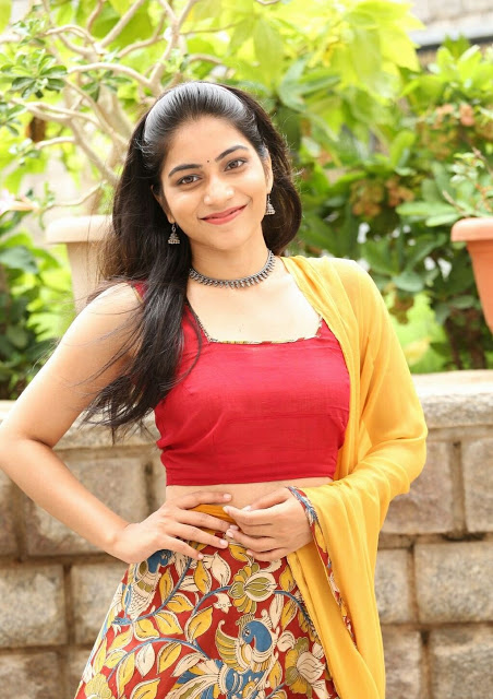 Punarnavi Bhupalam South Indian Cute and Beautiful Actress in Red Dress 3