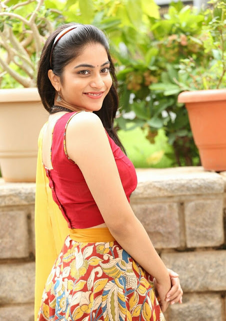 Punarnavi Bhupalam South Indian Cute and Beautiful Actress in Red Dress 4