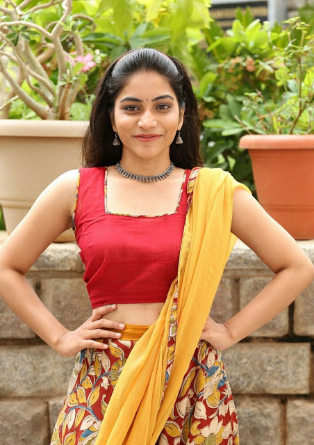 Punarnavi Bhupalam South Indian Cute and Beautiful Actress in Red Dress 5
