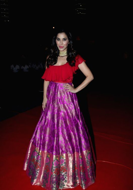 Sophie Choudry In Red Lehenga Choli At Zee TV Event 3